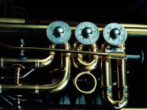 Lechner rotary-valve B-flat trumpet