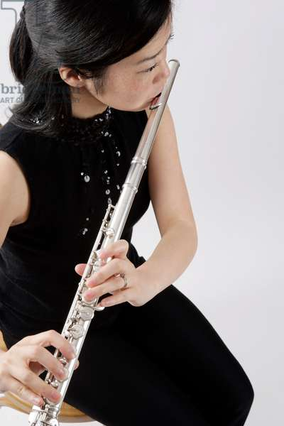 Flautist - young woman