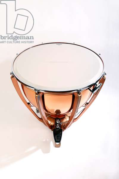 Timpani with plastic heads, made by Premier, UK.