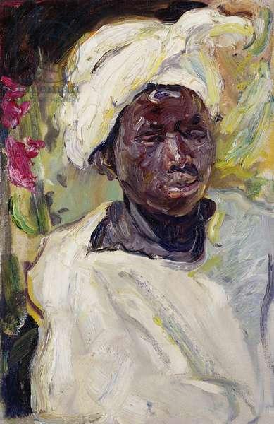 Negerjunge Mursi, 1914 (oil on canvas)