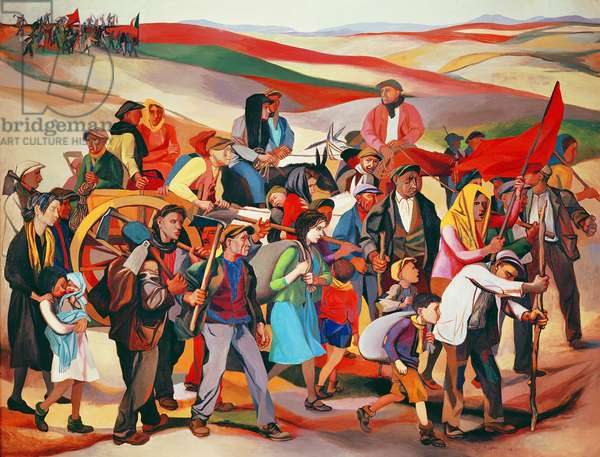 Occupation of the Sicilian Territories, 1940-50 (oil on canvas)