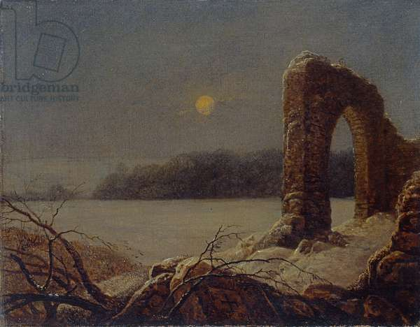 Winter landscape with ruined arch, 1816-18 (oil on canvas)