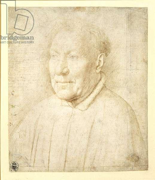 Portrait of Cardinal Albergati, c.1435 (silverpoint)