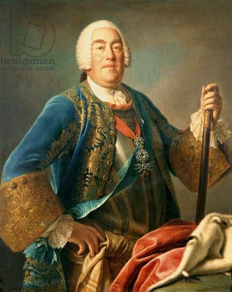 King Augustus III (1696-1763) of Poland, 1755 (oil on canvas)