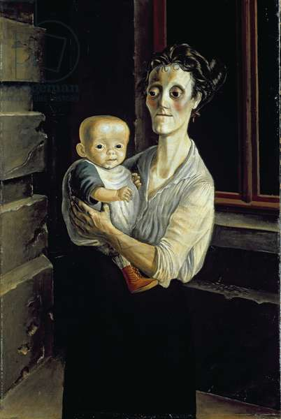 Mother with Child, 1921 (oil on canvas)