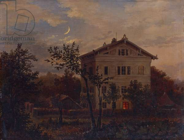 Haus Carus in Pillnitz, c.1835 (oil on canvas)
