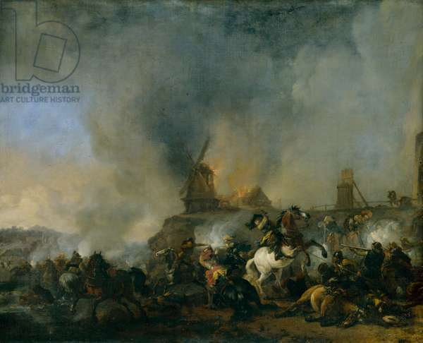 Battle of the Burning Mill (oil on canvas)