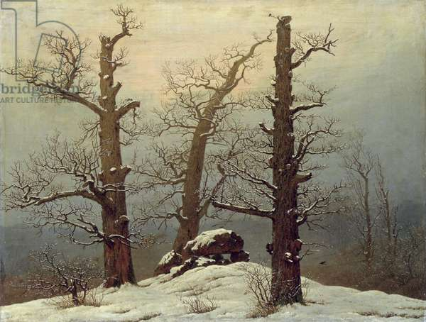 Dolmen in the Snow, c.1807 (oil on canvas)