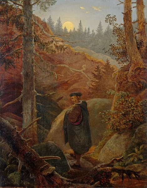 Faust in the Mountains, 1821 (oil on canvas)