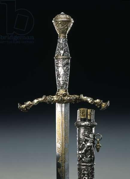 Sword of Duke Moritz von Sachsen (1521-53) 1547 (mixed metals)