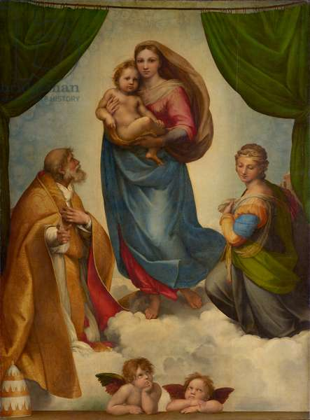 The Sistine Madonna, 1513 (oil on canvas)