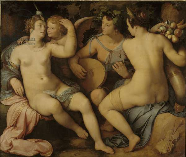 Venus, Bacchus and Ceres, 1614 (oil on canvas)