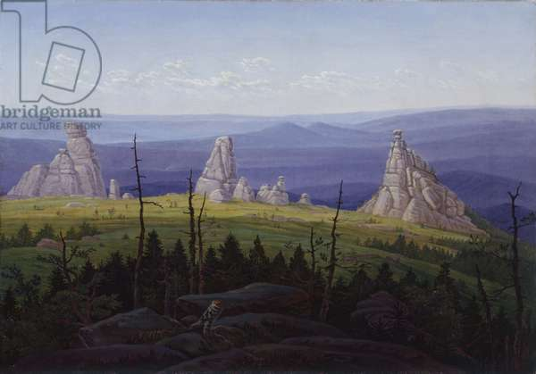 The Three Stones in the Giant Mountains, 1826 (oil on canvas)