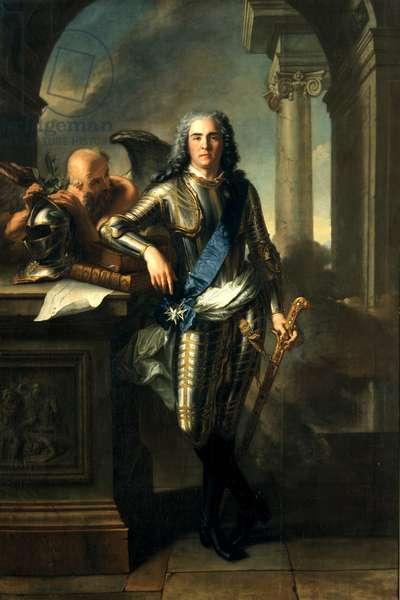 Maurice, Count of Saxony, Marshal von Frankreich, 1720 (oil on canvas)