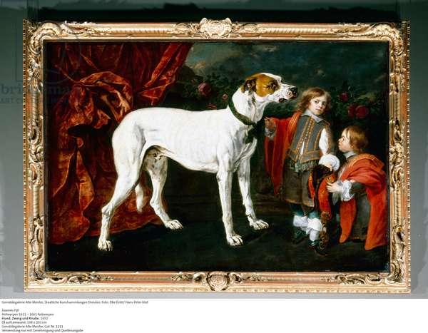 Big Dog, Dwarf and Boy, 1652 (oil on canvas)