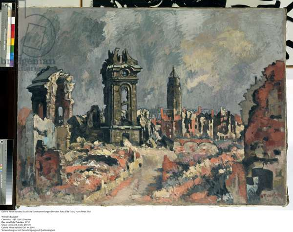 The Destroyed Dresden, c.1952 (oil on canvas)