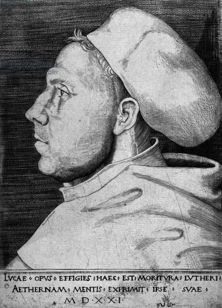 Martin Luther (1483-1546), c.1523 (engraving)