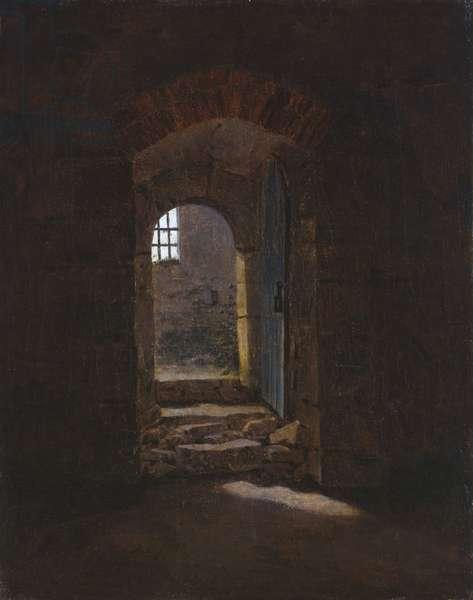 Doorway in Meissen, 1827 (oil on canvas)