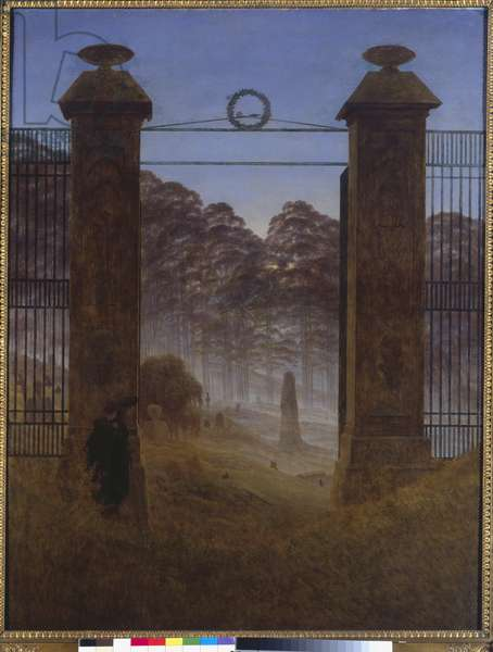 The Cemetery, 1825 (oil on canvas)
