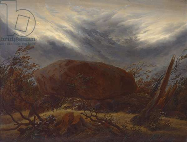 Megalithic Grave in Autumn, c.1820 (oil on board)