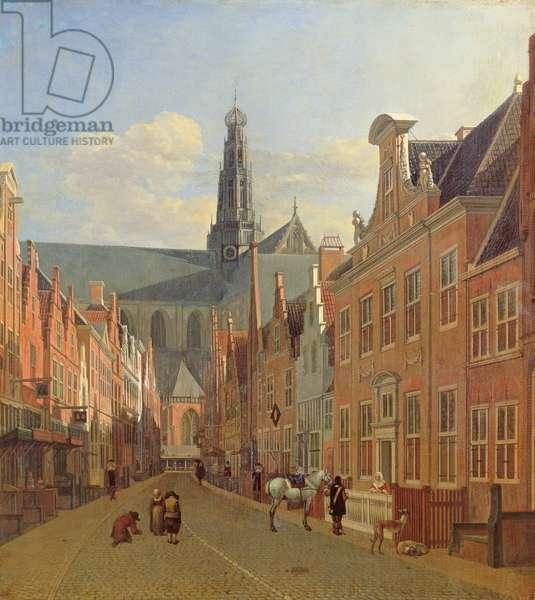 Street in Haarlem (oil on panel)