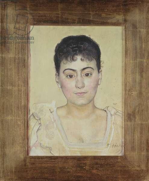 Portrait of Madame de R., 1898 (mixed media on mahogany)