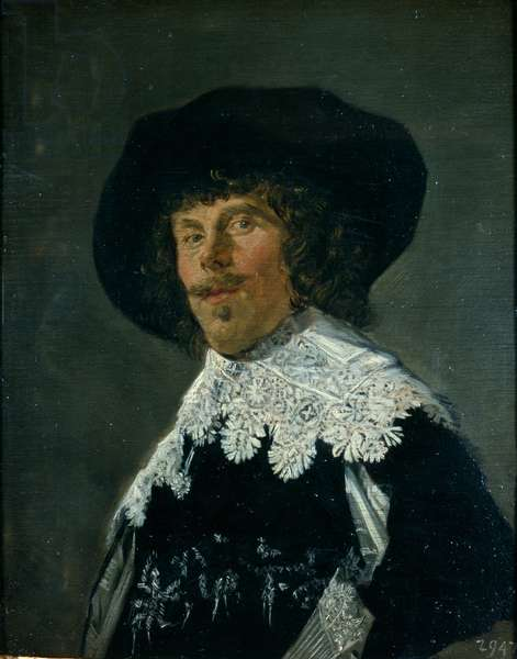 Portrait of a Young Man in a Black Shirt, c.1633 (oil on oak panel)