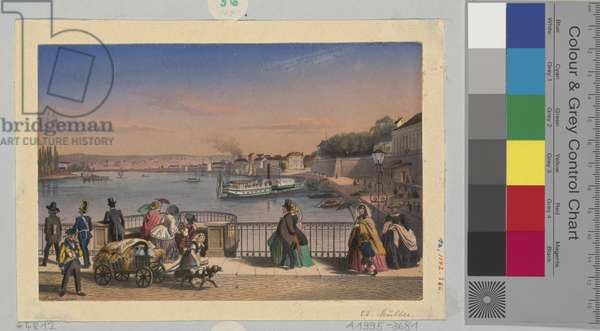 View of the River, 1860 (w/c on paper)