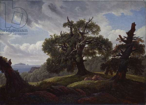 Oaks by the sea, 1835 (oil on canvas)