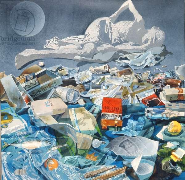 Detritus, 1975 (acrylic on canvas)