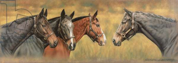 Giltedge, Custom Made, Biko and Prince Panache, (acrylic on canvas)