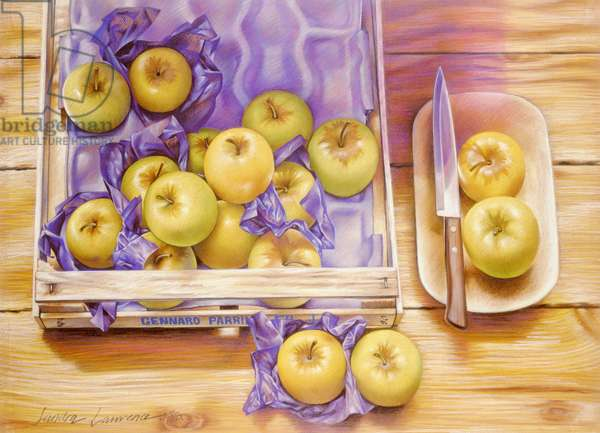 Golden Delicious, 1980 (pastel on paper)