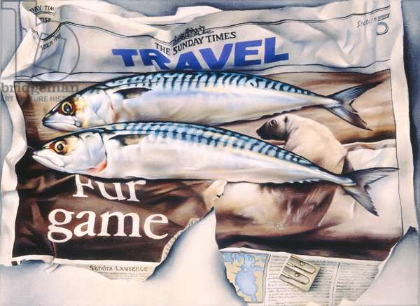 Fur Games, 1997 (oil on canvas)
