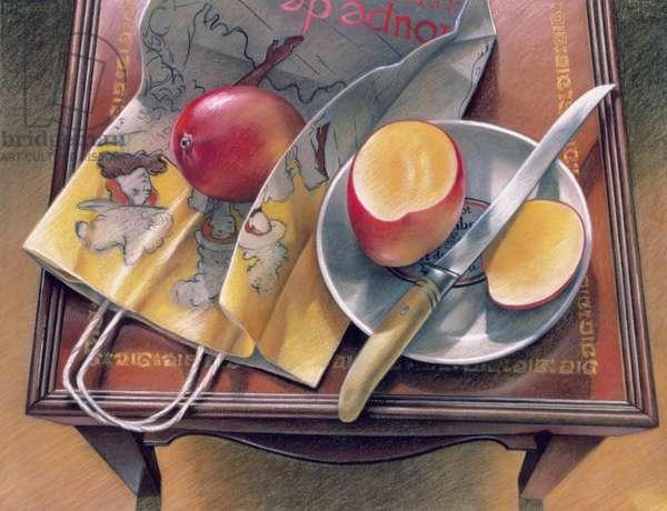 Troupe de Mme. Eglantino, 1979 (pastel on paper)