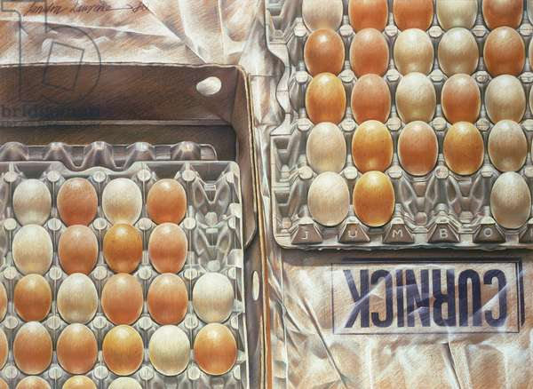 Curnick's Eggs, 1980 (pastel on paper)