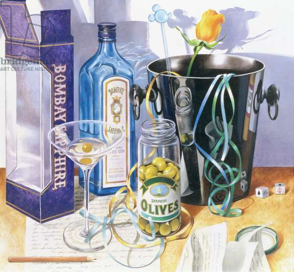 Bombay Sapphire, 1990 (oil on canvas)