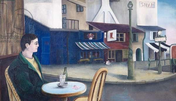 Man at Paris Cafe, 1976 (oil on canvas)