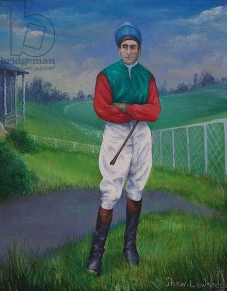 Jockey, Derby Winner, 1975 (oil on canvas)