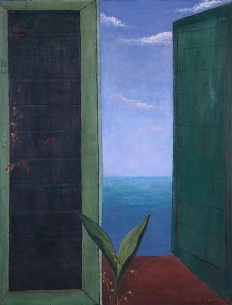 Window to Italy, oil on panel (1978)