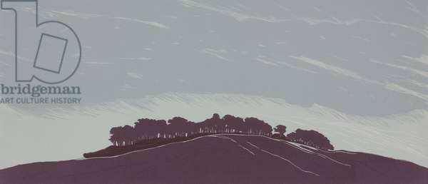 At The High Ground, 2014 (linocut)