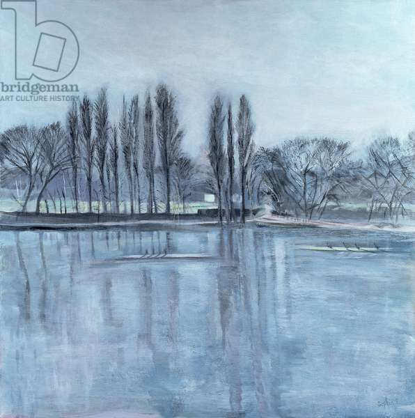 Dukes Meadow's, towards Putney-on-Thames (acrylic on canvas)
