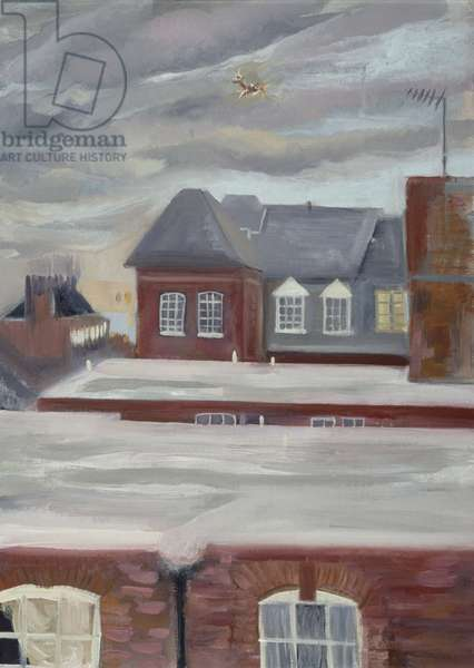 Guinness Trust Buildings, Fulham Palace Road (oil pastel on paper)