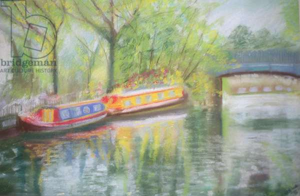 Little Venice, Regent's Canal, 1996 (oil on canvas)