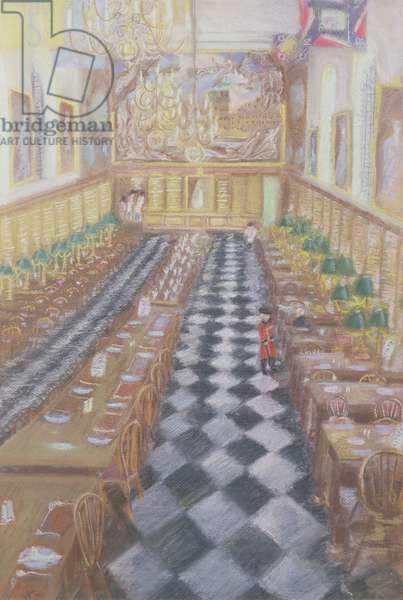 Royal Hospital Chelsea, 1996 (pastel on paper)