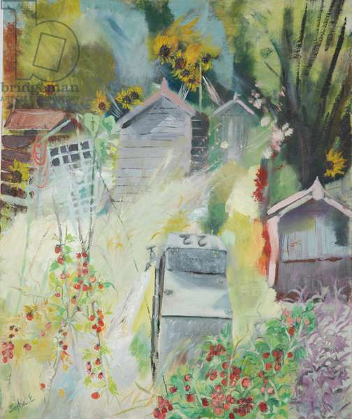 Allotment, Bishops Park, 2009 (oil on canvas)