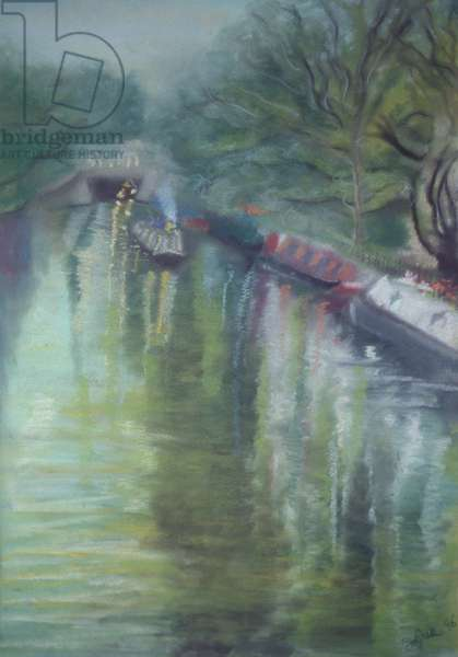Little Venice, Regent's Canal, 1996 (pastel on paper)