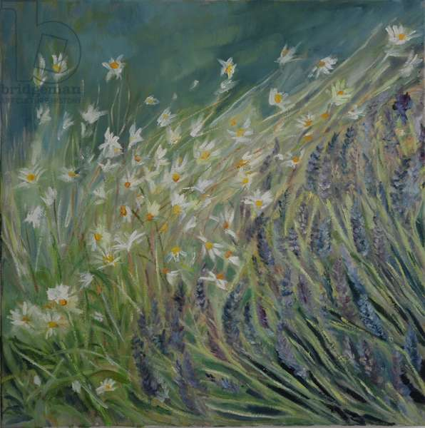 Lavender and Daisies, 2010 (oil on canvas)