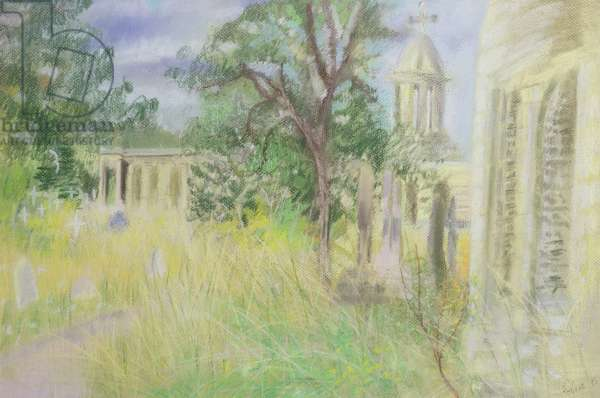 Brompton Cemetery, Old Brompton Road, 1995 (pastel on paper)