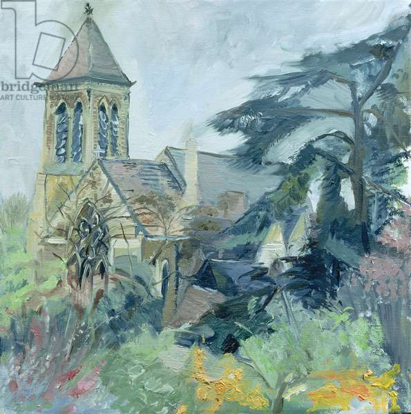 Christ Church, East Sheen (oil on canvas)