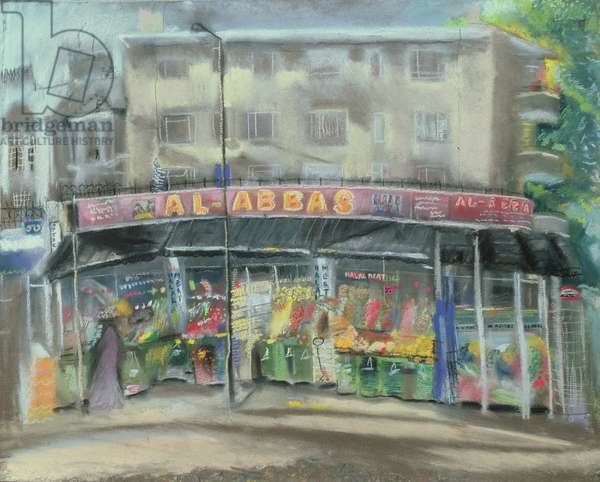 Al Abbas, Middle Eastern/Arabic Foods, Uxbridge Road, West London (pastel on paper)